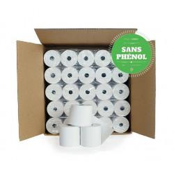 Bobines Thermiques TPE et Caisse 57x60x12 - Lot de 50 SANS PHENOL