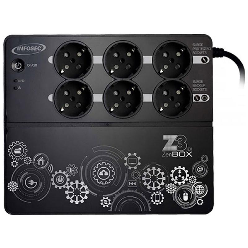 Onduleur haute fréquence 6 prises 500 VA et RJ45
